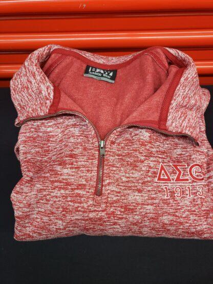 DST Heather Red 1/4 Zip Fleece