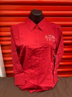 Red DST 3/4 Sleeve Blouse