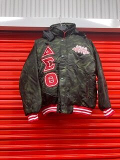 DST Nylon Varsity Jacket with Hood